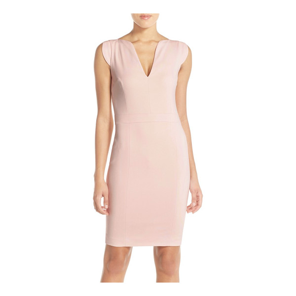 FRENCH CONNECTION 'lolo' stretch sheath dress - Structured seaming shapes a flattering figure-following...