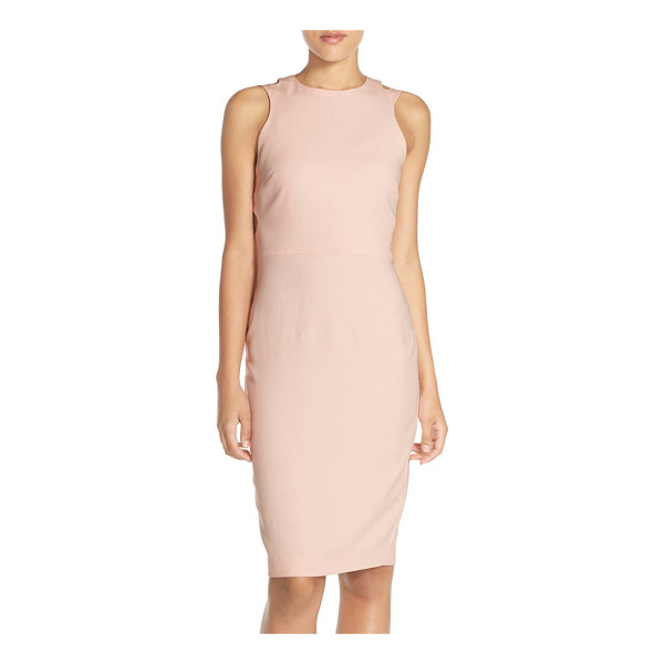FRENCH CONNECTION whisper light cutout midi dress - A sleeveless crepe midi dress with a hint of stretch...