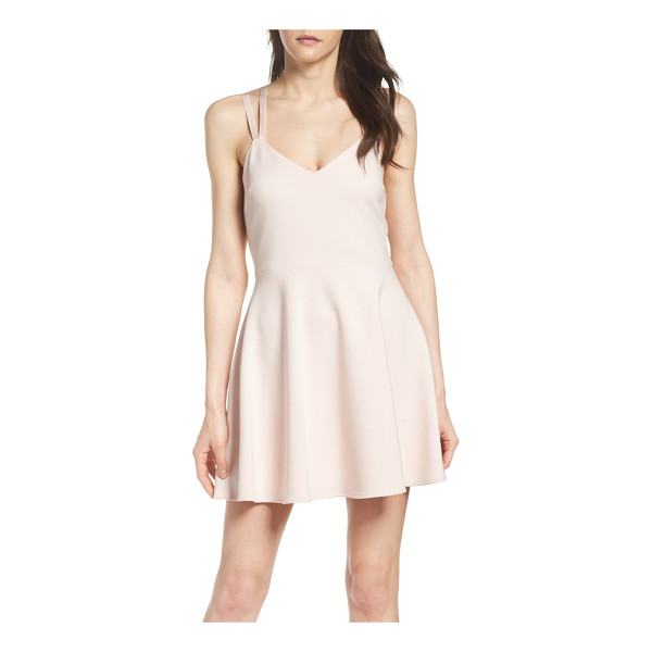 FRENCH CONNECTION whisper light fit & flare dress - A double-strap design gives you the freedom to accent the...