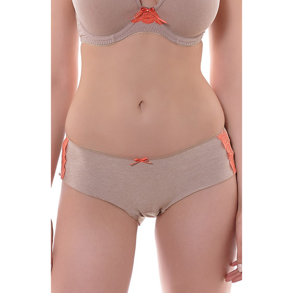 FREYA deco delight boyshorts - Lace side trim and a ribbon bow detail supersoft, heathered...