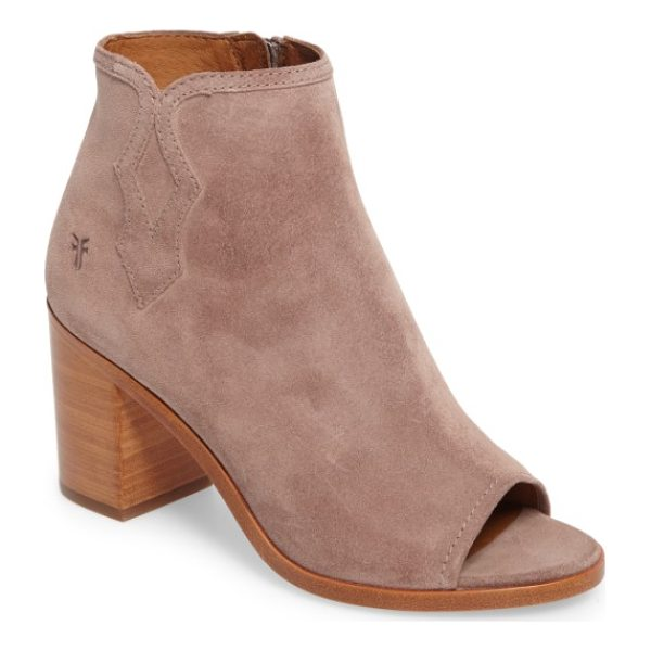 FRYE danica peep toe bootie - Western-inspired side stitching and a flirty open-toe...