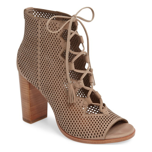 FRYE gabby perforated ghillie lace sandal - Latticed perforations and an open top bridged by...