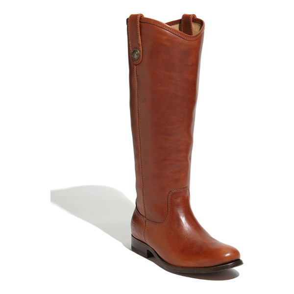 FRYE 'melissa button' boot - Button-accented pull tabs top a handcrafted riding boot...