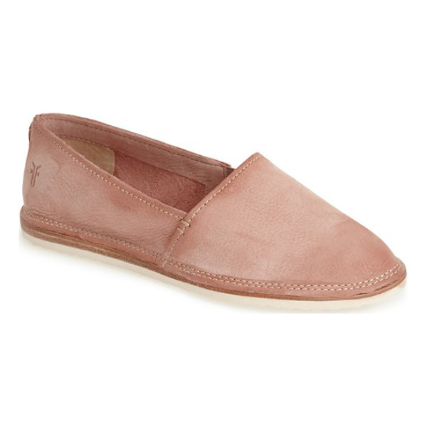 FRYE milli a line nubuck leather slip-on - The slip-on gets even more comfortable thanks to Frye's...