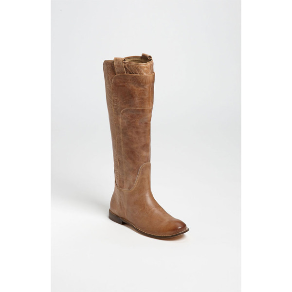 FRYE paige tall leather riding boot - Overlaid leather shapes a hand-burnished riding boot with a...