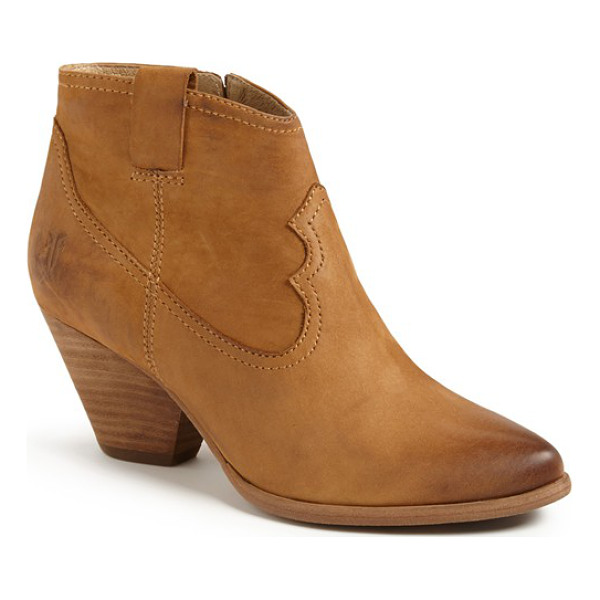 FRYE reina bootie - A blocky heel and almond toe amp up the versatility of a...