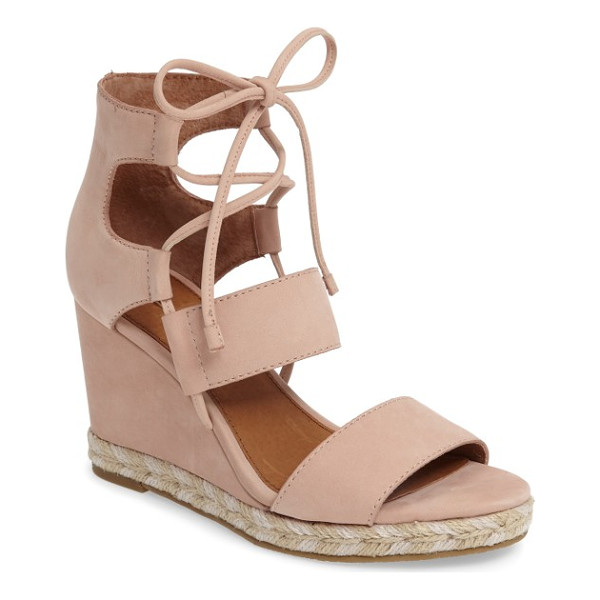 FRYE roberta ghillie wedge - Ghillie-style laces bridge the open top of a standout wedge...