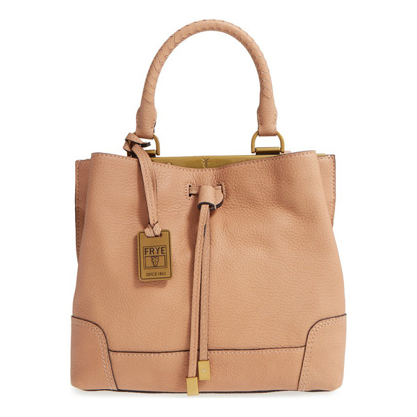FRYE Small fay framed leather drawstring handbag - A metal-tipped drawstring closure gathers the top of a...