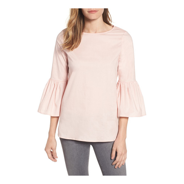 GIBSON bell sleeve poplin top - Ruffled bell sleeves add a flirty touch to a relaxed top...