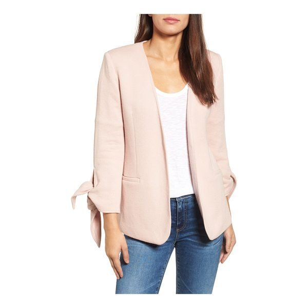 GIBSON gibson tie sleeve knit blazer - A minimalist blazer takes on casual-chic appeal cut from a...