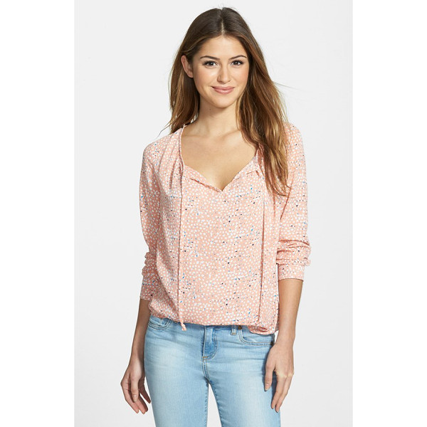 GIBSON print split neck blouse - Gentle gathers at the front and back create flowy movement...