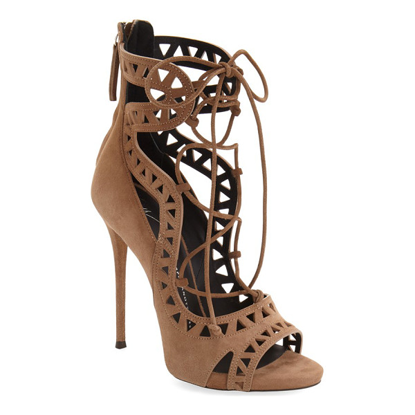 GIUSEPPE ZANOTTI 'coline' sandal - Curvaceous straps and geometric cutouts extend the...