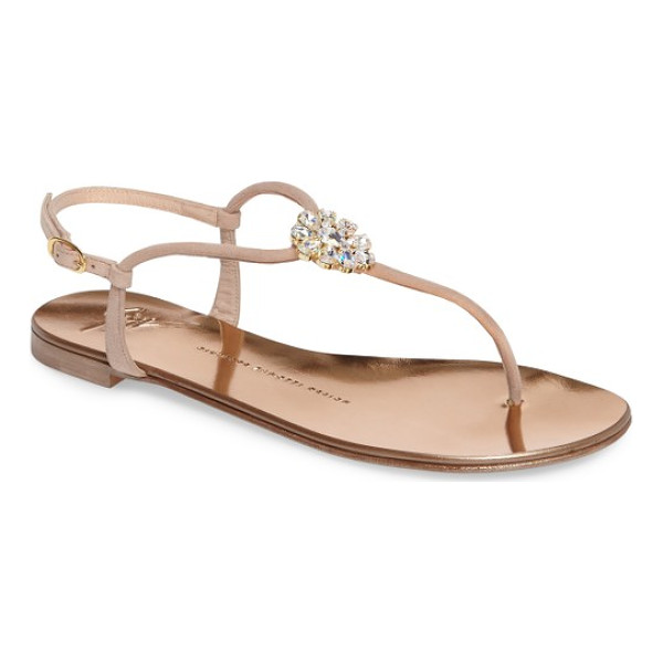 GIUSEPPE ZANOTTI crystal sandal - Shimmering Swarovski crystals dress up a streamlined sandal
