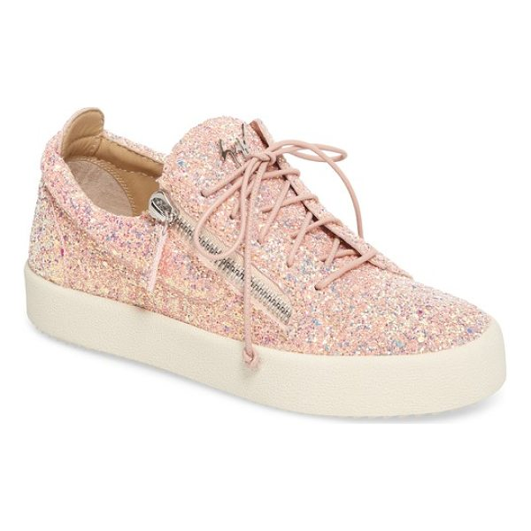 GIUSEPPE ZANOTTI may london low top sneaker - Dual side zippers add to the streetwise attitude of a...