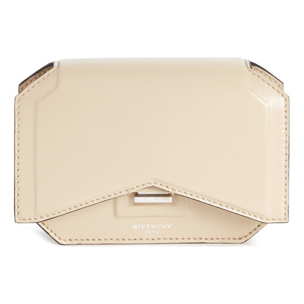 GIVENCHY Bow cut leather wallet on a chain - Sharp lines echo the classic points of a bow tie on this...