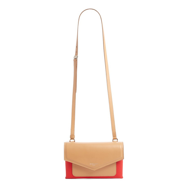 GIVENCHY duetto bicolor leather flap crossbody bag - Duetto, meaning duo in Italian, hints at the design...