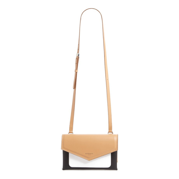 GIVENCHY duetto tricolor leather flap crossbody bag - Duetto, meaning duo in Italian, conveys a harmonious...