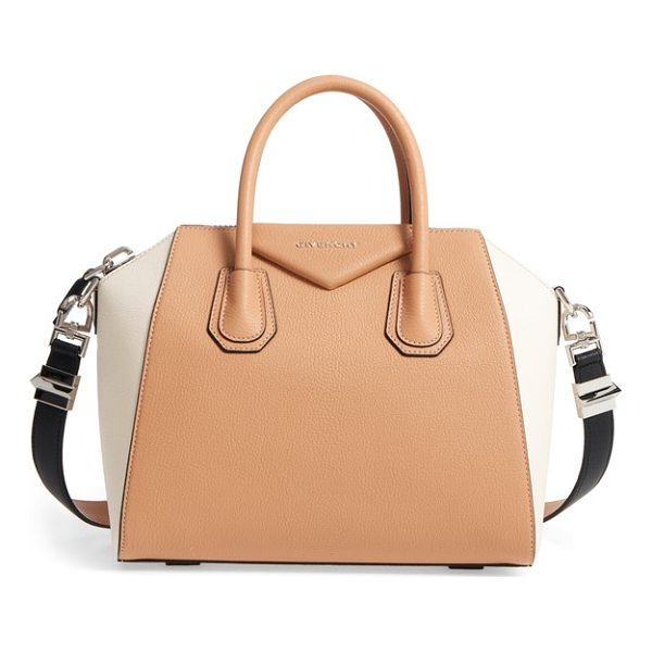 GIVENCHY medium antigona bicolor sugar leather satchel - Beloved by street-style mavens and well-polished women the...