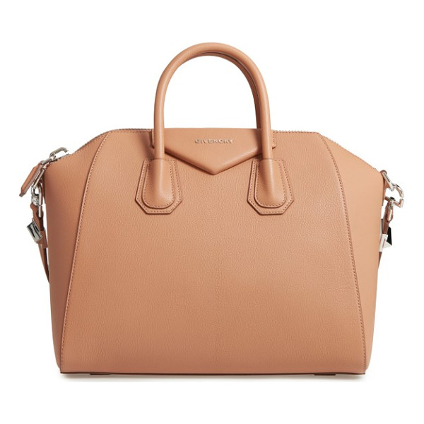GIVENCHY 'medium antigona' sugar leather satchel - Beloved by street-style mavens and well-polished women the