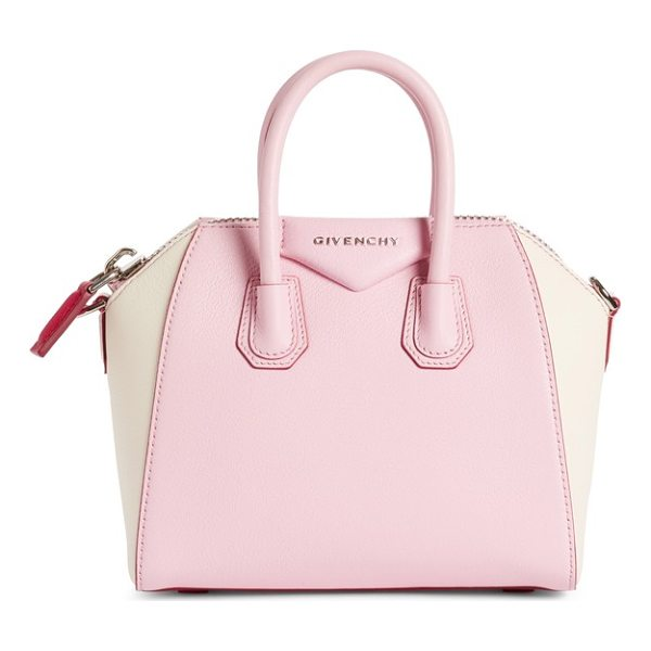 GIVENCHY mini antigona bicolor sugar leather satchel - A fan-favorite bag with a beautifully structured...