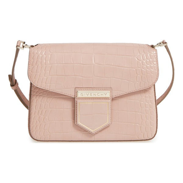 GIVENCHY small nobile croc embossed leather crossbody bag - Rich croc embossing textures this beautifully structured
