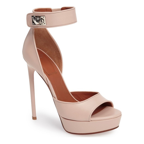 GIVENCHY 'plara' ankle strap platform sandal - Polished turnlock hardware highlights the flattering ankle...