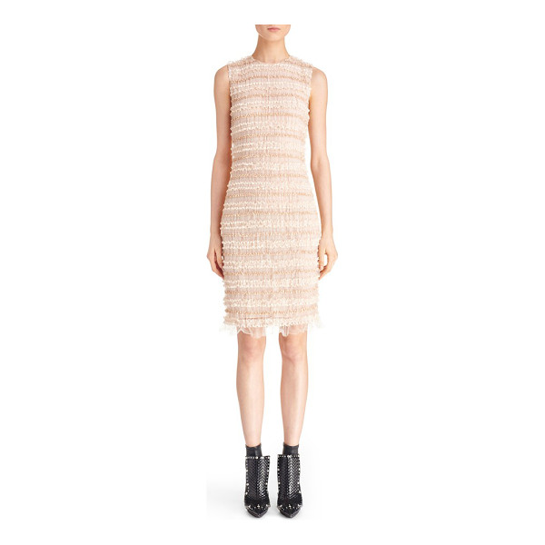 GIVENCHY ruffle silk sheath dress - Pale blushed hues further the delicate femininity of a...
