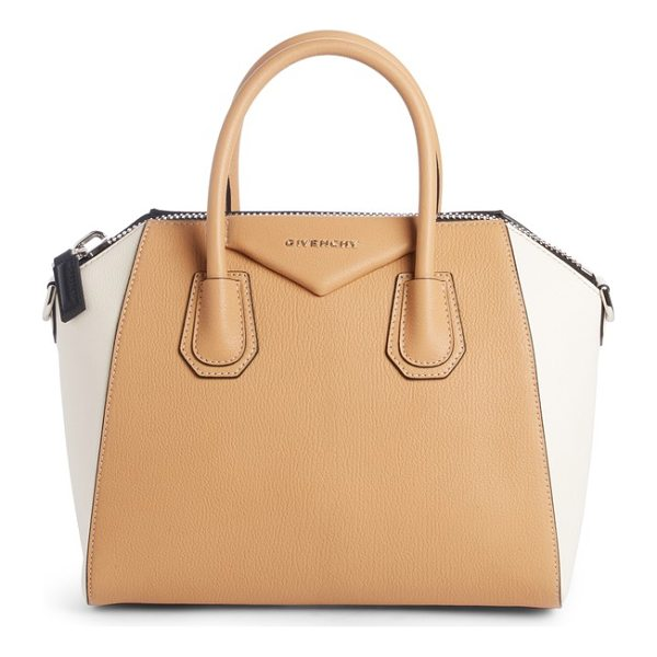 GIVENCHY small antigona bicolor sugar leather satchel - Beloved by street-style mavens and well-polished women the...