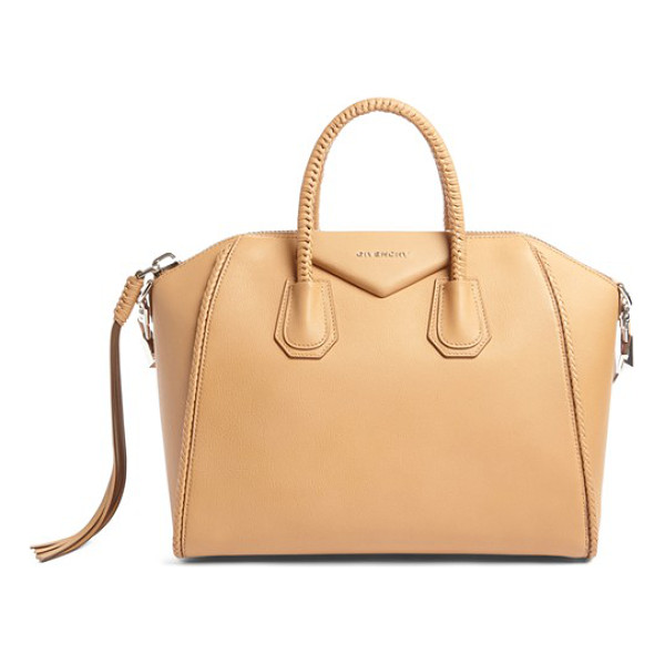 GIVENCHY small antigona woven handle leather satchel - Beloved by street-style mavens and well-polished women the...