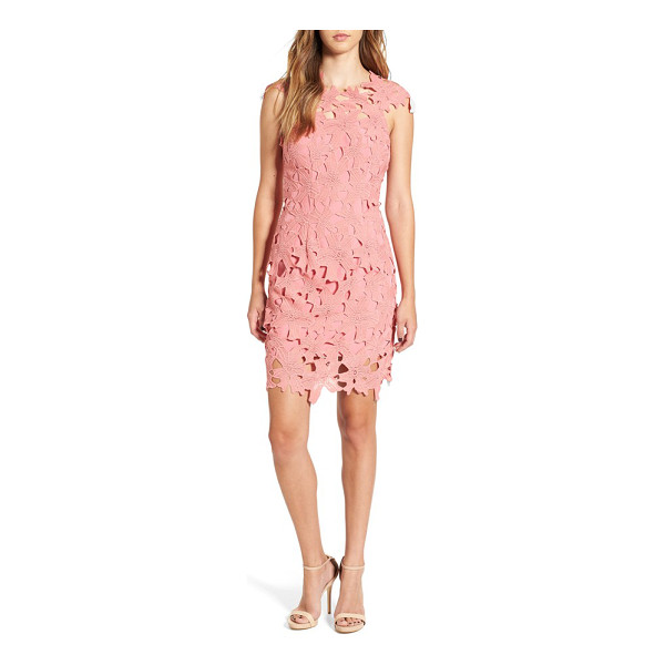 GLAMOROUS crochet body-con dress - A delicate overlay of guipure lace sweetens the silhouette...