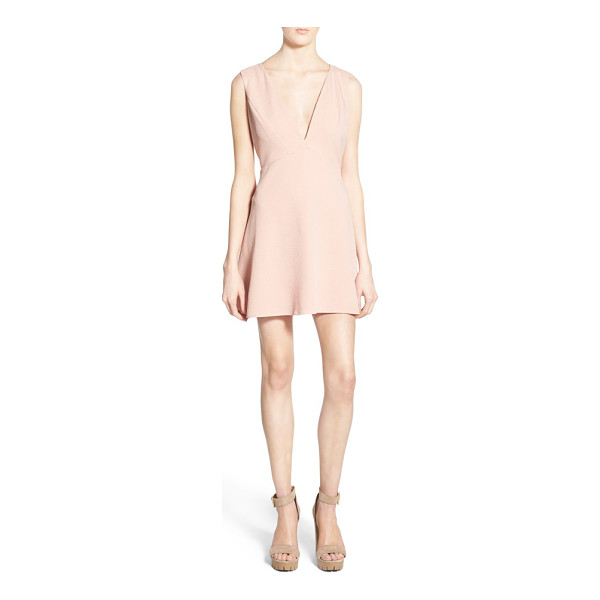 GLAMOROUS deep v-neck fit and flare dress - A flowing fit-and-flare dress cut from soft crepe features...