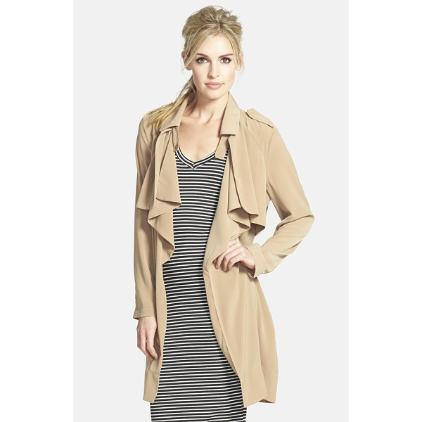 GLAMOROUS drapey trench - Lightweight stretch fabric contemporizes the look and feel...