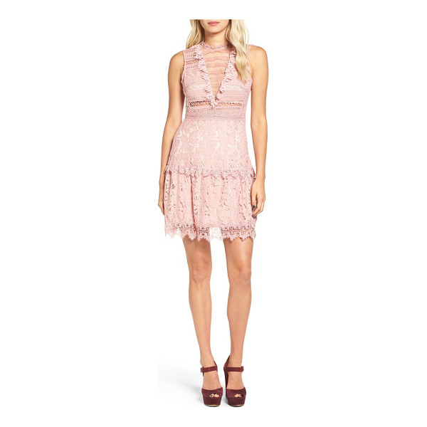 GLAMOROUS lace fit & flare dress - A figure-skimming fit-and-flare dress is pretty and