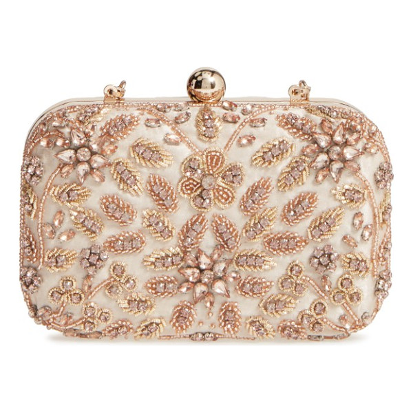 GLINT beaded floral spray minaudiere - Ornate beading and a garden of crystal-encrusted flowers