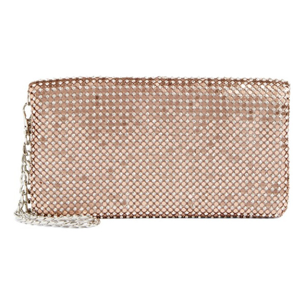 GLINT crystal mesh foldover clutch - Update your evening look with this crystal-mesh carryall in...
