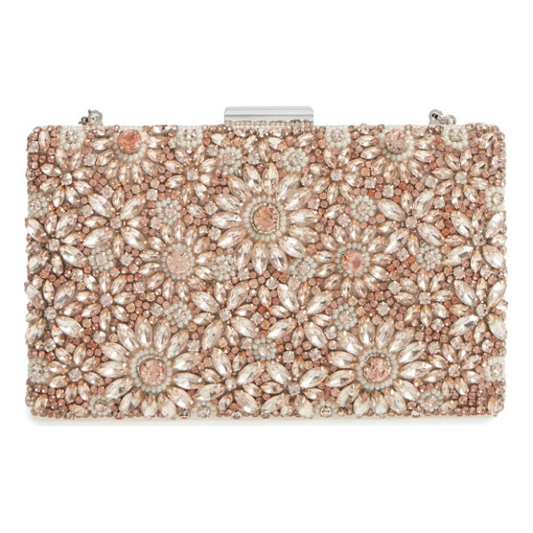GLINT floraison beaded frame clutch - A lavish array of faceted crystals catches the light on...