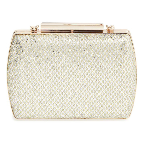 GLINT glitter minaudiere - With a glittering finish, polished hardware and a compact...