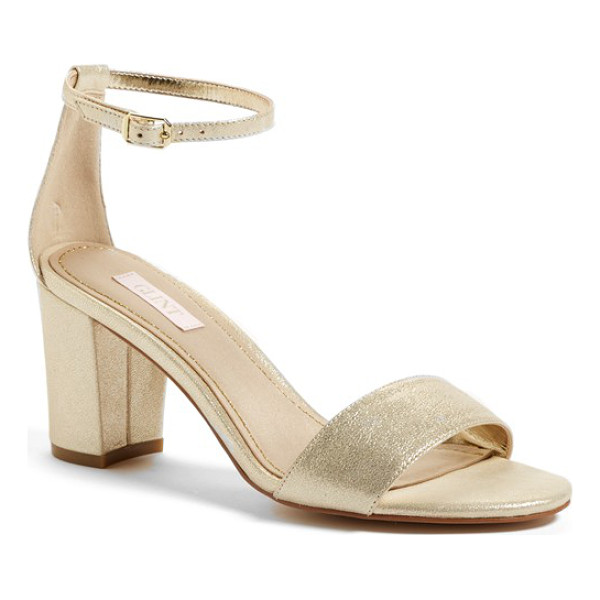 GLINT lana block heel ankle strap sandal - A wrapped block heel gives just-right lift to a minimalist...
