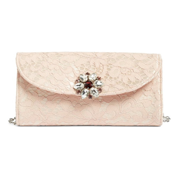 GLINT jeweled envelope clutch - Faceted stones sparkle at the flap of a streamlined