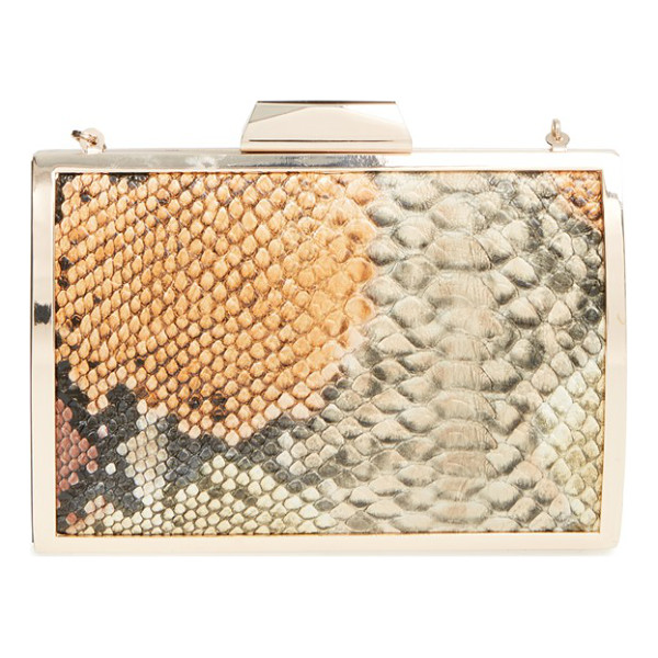 GLINT Snake embossed minaudiere - Polished metallic hardware sets off the snake-embossed...