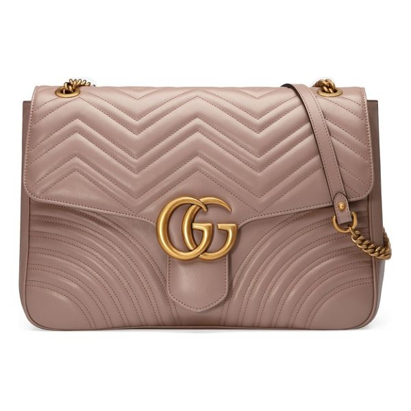 GUCCI gg large marmont 2.0 matelasse leather shoulder bag - Double-G logos-inspired by a '70s-era design found in the...