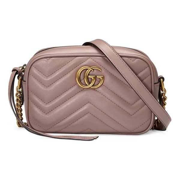 GUCCI gg marmont 2.0 matelasse leather shoulder bag - Double-G hardware inspired by a '70s-era design found in...