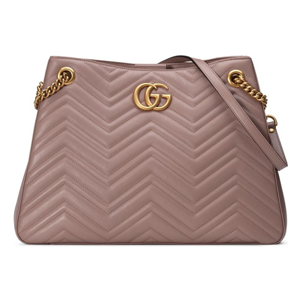 GUCCI gg marmont matelasse leather shoulder bag - Signature matelasse-quilted chevrons, complete with a...