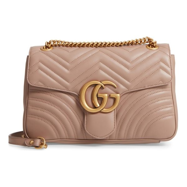 GUCCI medium gg marmont 2.0 matelasse leather shoulder bag - Double G logos inspired by a '70s-era design found in the...