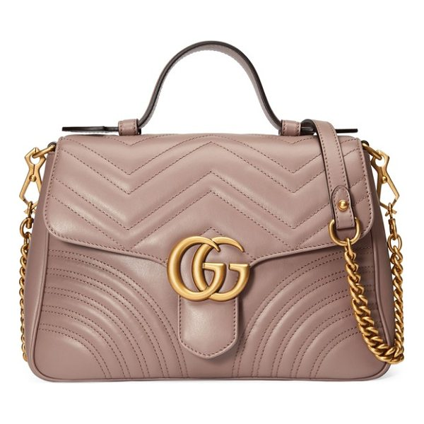 GUCCI small gg marmont 2.0 matelasse leather top handle bag - Double-G logos-inspired by a '70s-era design found in the