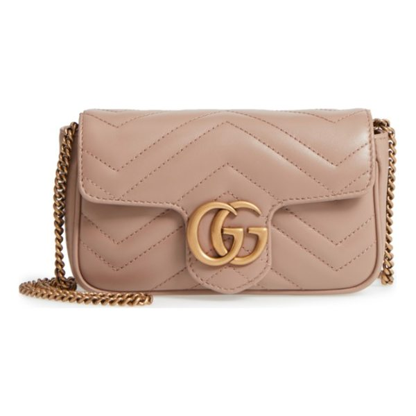 GUCCI supermini gg marmont 2.0 matelasse leather shoulder bag - Double G logos inspired by a '70s-era design found in the...