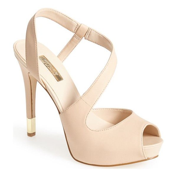 GUESS hilarie peep toe sandal - Add leg-lengthening style to your look with this platform...
