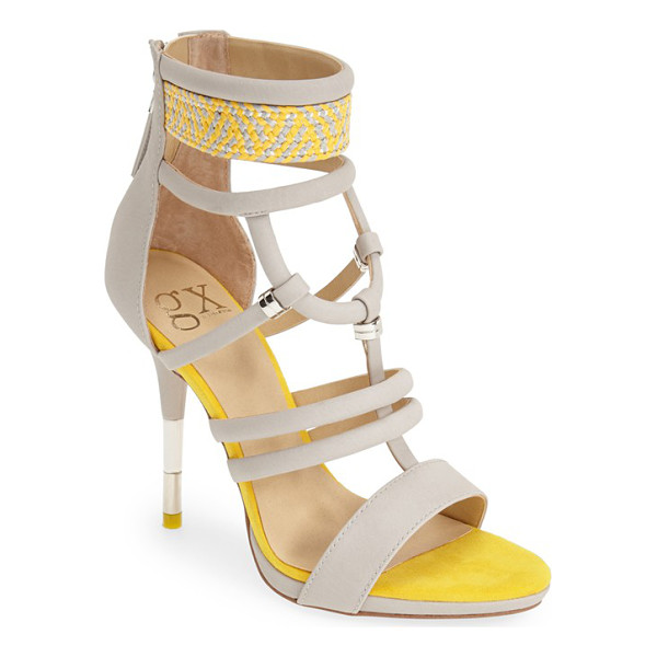 GX BY GWEN STEFANI acacia sandal - A woven ankle strap and polished metallic hardware extend...