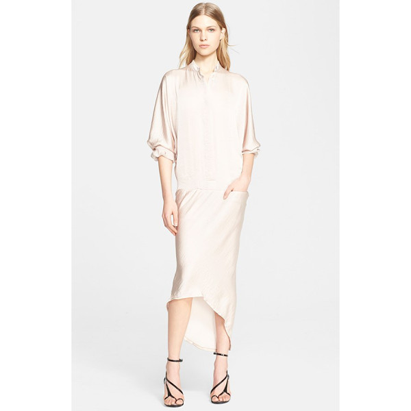 HAIDER ACKERMANN satin shirtdress - Luminous and subtly rumpled satin is generously cut to...
