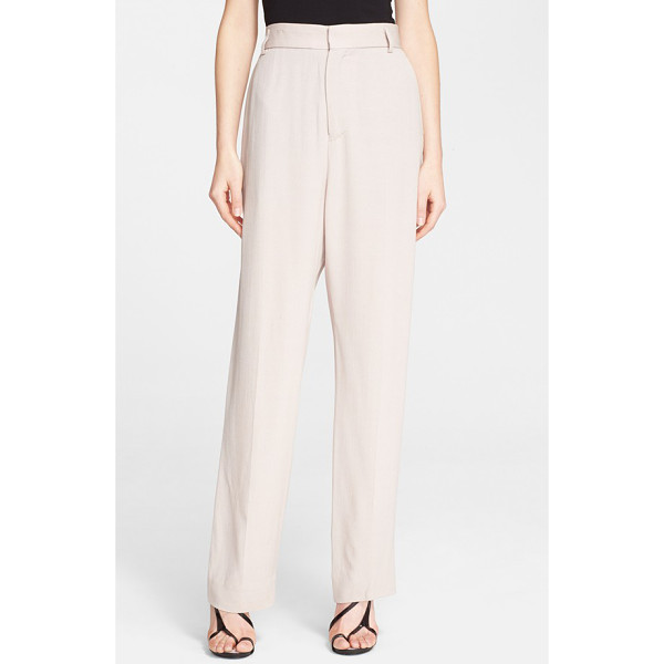 HAIDER ACKERMANN straight leg crepe pants - A counter to the Colombian-born designer's often dark and...